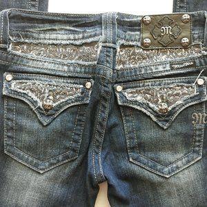 Miss Me Bootcut Jeans Mid Rise Rhinestone Pockets